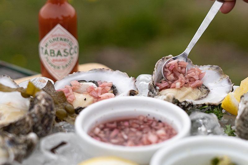 Cromane Oysters with Mignonette Sauce