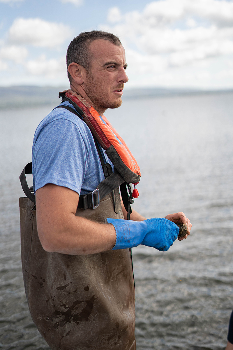 Fisherman with Oysters