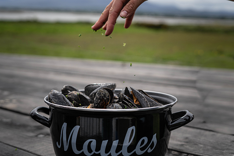 Pot of Cromane Mussels
