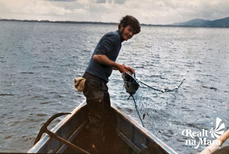 Michael Sugrue Snr Salmon Fishing in Cromane
