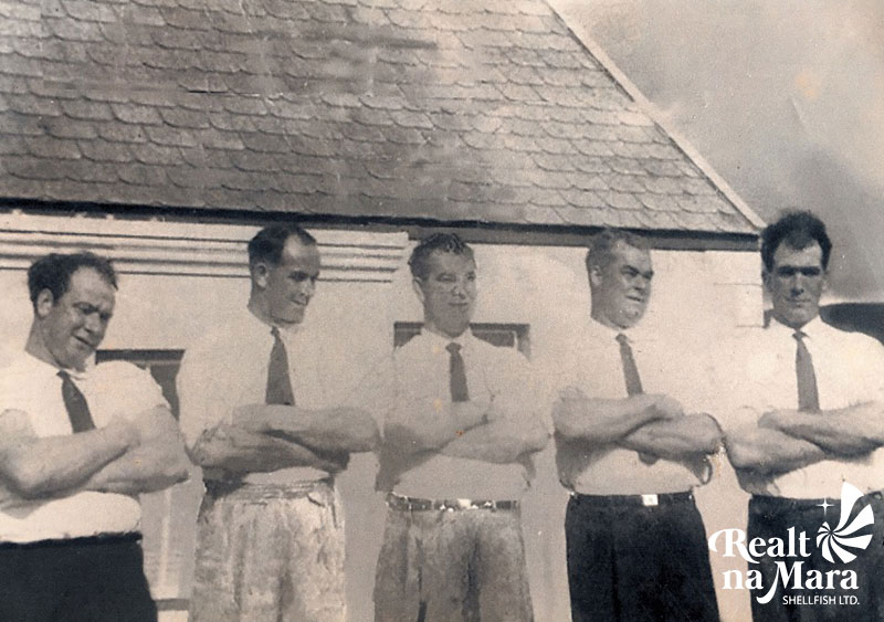 Paddy Sugrue (far right) and his brother